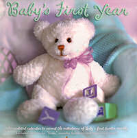 Babys First Year Wall Calendar Teddy Bear Style