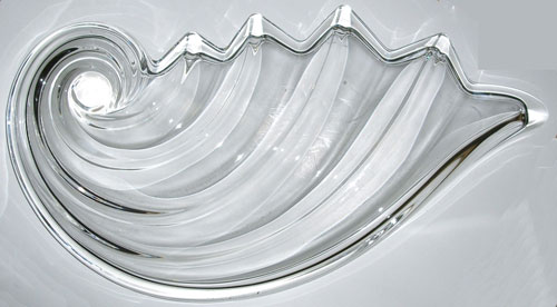 Nautilus Glass Platter