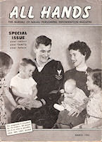 Front Cover Vintage 1955 All Hands Magazine