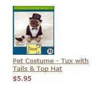 Pet Costume - Tux with Tails & Top Hat