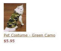Pet Costume - Green Camo