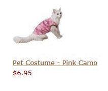 Pet Costume - Pink Camo