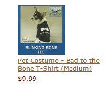 Pet Costume - Bad to the Bone T-Shirt