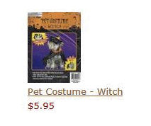 Pet Costume - Witch